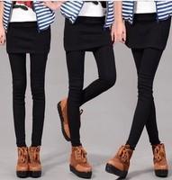 The spring and autumn Korean stretch slim slim culottes false two bag hip skirt Leggings female wholesale