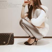 Korean autumn women's Leggings pure color long elastic thin backing explosion models