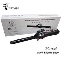 Professional Hair Curler Styler#055 19mm Dual Voltage Nano Titanium Iron Ceramic Curling LCD Digital Display Free shipping