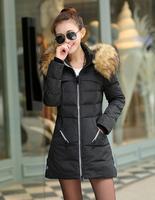 M-4XL Red/green/black Women Down Coat 2014,Fur Collar,Long Military coat,Goose Down High Quality Slim Woman's Winter Long Coats