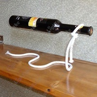 2014 New creative magic white string Red wine bottle holder Magic Iron Chain dangling holders