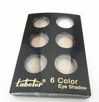 Free Shipping Fashion charm makeup 2014 new 6 colors eyeshadow Palette with Brush Senior luxurious