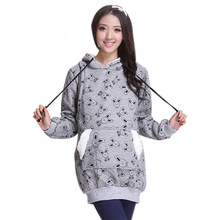 Fashion cartoon design warm winter hoodies coat maternity women for pregnant