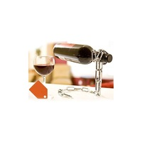 Floating  Magic Iron Chain Red Wine Bottle Holder Alcohol Champagne Illusion Rack Stand with gift box