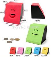 Free shipping 36pcs/lot Face Bank Coin Mouth Sensors Coin Bank Facebank Toy