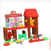 Building children's educational toys plastic to hold the big supermarket/music / 92 pieces