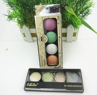 Free Shipping Fashion charm makeup 2014 new 4 colors eyeshadow Palette with Brush Senior luxurious