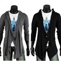 M-2XL Winter 2014 New Korean Cardigan Long Sweater Design Men's V neck Men Sweaters Brand Fashion Cotton Slim Man sweater AX837