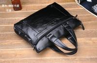 Famous Brand Kangaroo Men's Leather Messenger bag Shoulder Bags Vintage Briefcase Office Bag Fashion Designer  Brown And Black
