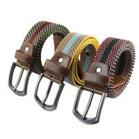 Mens Soft Canvas Hip Belt Cinto Buckle Waist Strap Men Casual Belts PK453