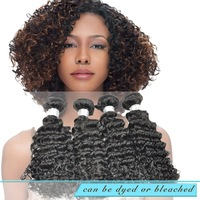 Rosa Hair Products Brazilian Deep Wave Virgin Hair Extensions 100% Brazilian Virgin Hair Unprocessed Hair 3/4pcs