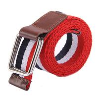 Mens Canvas Belt Cintos Male Elastic Belt Buckle Waist Strap Men Belts PK454