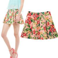 #YZX738 New 2014 Fashion Women Girls' Mini Short Skirts Lovely Denim Skirt Free Shipping
