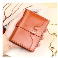 2014 Brand Short Design Genuine  Leather Purse Muiltfunction Women Wallets Clutch