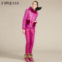 2014 new female diamond three-piece suit jacket Korean version of Rex hair free shipping