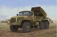 Trumpeter Model 01014 1/35 Russian BM-21 Grad Multiple Rocket Launcher Late Version plastic model kit