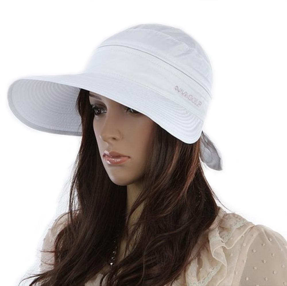sun cap summer wide brim 2in1 combined golf hat
