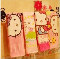 Bamboo fiber face soft hello kitty towels home hotel kitchen beach gift usd cartoon cute towel children adults towels 2pcs/lots