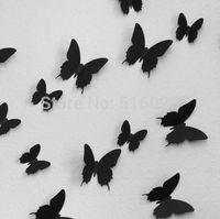 12pcs 3D Butterfly Wall Stickers Butterflies Docors Art / DIY Decorations Paper