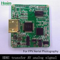 New FPV Special Nex Series Switch Board Transfer HD HDMI to AV Analog Signal W/ Remote Shutter for FPV