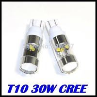 2pcs/lot 30W High Power Super Brightness White Cree XQB T10 T15 912 921 LED Bulbs For Back Up Backup Reverse Lights FreeShipping