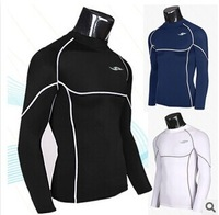 Free Shipping 2014 new Casual long sleeve breathable T-Shirts Slim Fit Tops Sport Shirt cycling Quick Dry men's T shirt