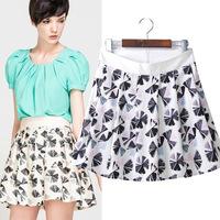#YZX741 New 2014 Fashion Women Girls' Mini Short Skirts Lovely Denim Skirt Free Shipping