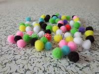 500pcs/lot Color Multicolor Pompoms 15mm pom-pom Kindergarden DIY Art Craft Materials for Creative Kids Early Educational