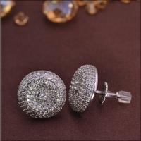 LSE852 Copper zircon New earring men screw back stub men earrings factory , free shipping