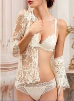 2014 Germany brand women lusexy sexy lace ultra thin bra set underwear free shipping U615