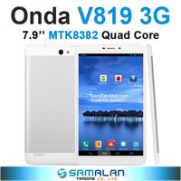 7.9'' Onda V819 3G Tablet PC MTK8382 Quad Core IPS 1280x800 1GB RAM 16GB ROM GPS Bluetooth WCDMA Android 4.2