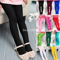 Wholesale kids Girls Toddler Pantyhose Trousers  Candy Colors Skinny Cute Velvet Solid  leggings