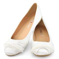 SHOEZY white women flat wedding shoes woman satin silk crystal bridal birdesmaid prom comfort shoes ladies bellet flats slip