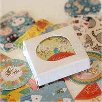 Free shipping ,38pcs/set hot selling animal series decoration packing stickers,Kawaii sticker,stationery wholesale(tt-1293)