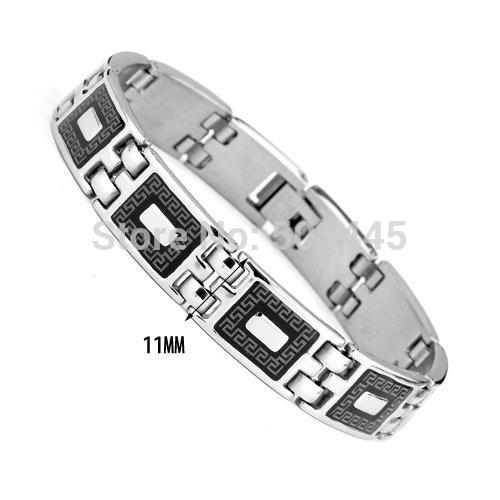 2014 New Fashion Style Love Great Wall Bracelet 316L Stainless Titanium Steel Bracelets Bangle Magnetic Energy Men Male Bijoux(China (Mainland))