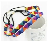 2pcs Color manual lovely triangular hair band Hairwear A5104