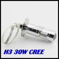 50PCS/LOT LED XQB H3 30W Driving Lamp cars Fog Head Bulb auto Vehicles parking Turn Signal Reverse Tail Lights car light source