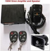 150W 12V Wireless Square Car Emergency Warning Alarm 150W Siren Amplifier Speaker