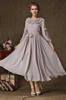 2014 New Arrival Ruffled Collar Women Dress, Casual Maxi Dresses,  Autumn Winter Big Hem Long Dress Women Clothing Party Dress