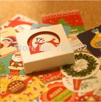 Free shipping ,38pcs/set hot selling Christmas series decoration packing stickers,Kawaii sticker,stationery wholesale(tt-1294)