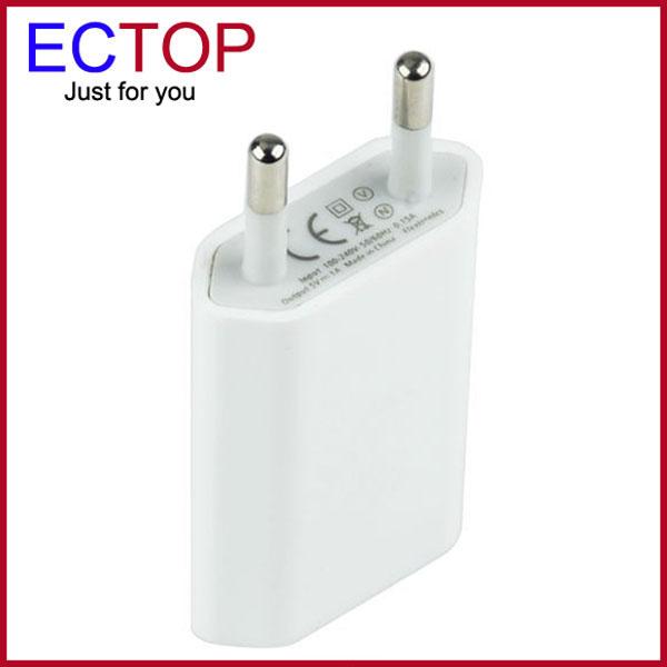 Free Shipping White European USB AC Wall Power Adapter EU Plug Charger For iPhone 5 5S 4 4S EU Plug USB Power Adapter(China (Mainland))