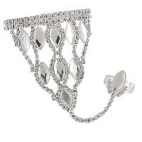 2014 New Elegant Luxury Acrylic Rhinestone Silver Triangle Oval Chain Women Bracelets Bangles,Wedding Jewelry Free shipping
