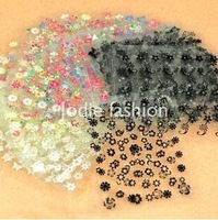 50 pcs 3D Design Tip Nail Sticker Decal Manicure tools Mix Color Nails art Flower Beauty polish stickers Free Shipping