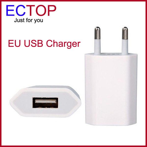 10Pcs/Lot White EU Plug USB Power Home Wall Charger Adapter for iPod For iPhone 3G 3GS 4G 4S Brand New Hot Selling(China (Mainland))