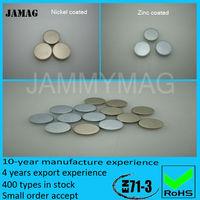 Neodymium magnet disc N35 4*2mm nickel coated (20000 pcs as one pack)