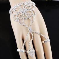 2014 New Elegant Luxury Rhinestone Party Multilayer Bride Butterfly Women Bracelets Bangle Set,Wedding Jewelry Free shipping