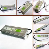 DC 12V Transformer Power Supply Adapter LED Driver IP67 Waterproof 10W,15W,20W,30W,36W,50W,80W,100W,150W,200W
