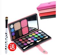 28 eye shadow plate earth color matt pearl eye shadow variegating nude makeup palette