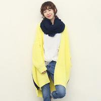 2014 women's coarse knitting medium-long loose plus size yarn thickening sweater outerwear cardigan