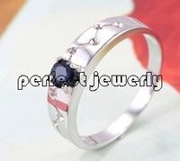 Sapphire ring Perfect Jewelry Sapphire ring Natural and real sapphire 925 silver plate 18k gold Fine and fashion ring #090203